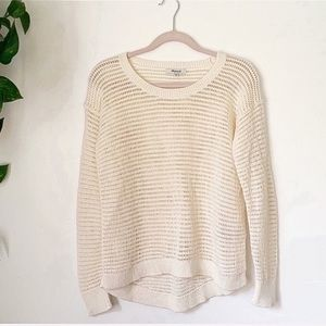 Madewell Open Knit Pullover Sweater